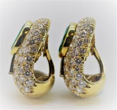 Wonderful David Webb Emerald and Diamond Earrings - 1644728