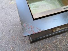 Wonderful Pair of Asian Modern Black Lacquered Planter Copper Inserts - 1454218