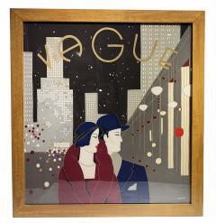 Wonderful Pancaldi Framed Silk Scarf Typical Art Deco Style - 2086006