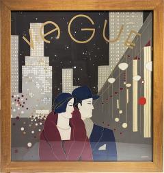 Wonderful Pancaldi Framed Silk Scarf Typical Art Deco Style - 2086177