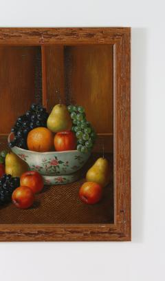 Wood Framed Oil Canvas Still Life Painting - 1347555