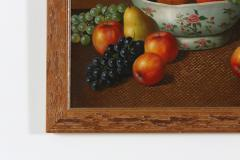 Wood Framed Oil Canvas Still Life Painting - 1347557