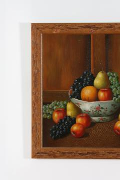 Wood Framed Oil Canvas Still Life Painting - 1347558