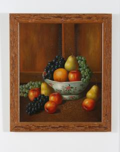 Wood Framed Oil Canvas Still Life Painting - 1347560