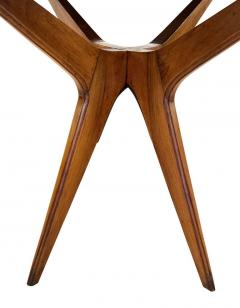Wood Mid Century Side Table with Mirrored Top - 2113604