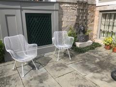 Woodard Furniture Pair of White Patio Chairs - 715421