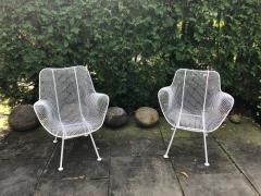 Woodard Furniture Pair of White Patio Chairs - 715422
