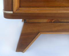 Wooden Art Deco Credenza with Two Tone Pattern Doors - 1121903