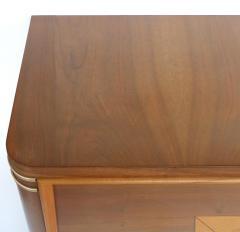Wooden Art Deco Credenza with Two Tone Pattern Doors - 1121911
