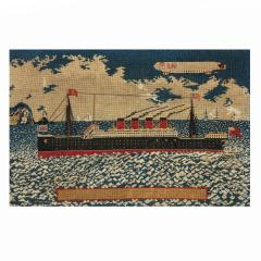 Woolwork picture of the liner RMS LUSITANIA - 797312