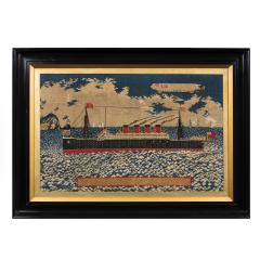 Woolwork picture of the liner RMS LUSITANIA - 797313