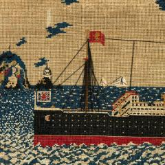 Woolwork picture of the liner RMS LUSITANIA - 797314