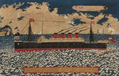 Woolwork picture of the liner RMS LUSITANIA - 800574