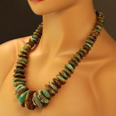 World Famous Kingman Turquoise Necklace from Gemjunky - 1926826