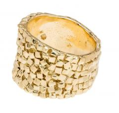 Woven 18k Yellow Gold Band Ring - 337418