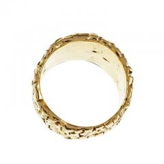 Woven 18k Yellow Gold Band Ring - 337419