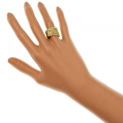 Woven 18k Yellow Gold Band Ring - 337421