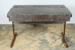 Writing File Desk in Ceruse Walnut and Aged Brass - 1373637