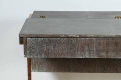 Writing File Desk in Ceruse Walnut and Aged Brass - 1373638