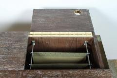 Writing File Desk in Ceruse Walnut and Aged Brass - 1373640