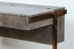 Writing File Desk in Ceruse Walnut and Aged Brass - 1373642