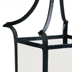 Wrought Iron Swedish Modern Classicism Lantern Fixture - 1640447