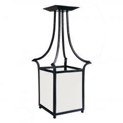 Wrought Iron Swedish Modern Classicism Lantern Fixture - 1640448