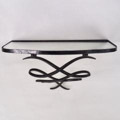 Wrought Iron and Mirrored Glass Console in the Manner of Rene Prou Circa 1940 - 1166559