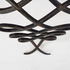 Wrought Iron and Mirrored Glass Console in the Manner of Rene Prou Circa 1940 - 1166560