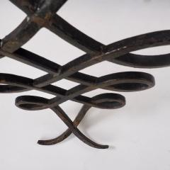 Wrought Iron and Mirrored Glass Console in the Manner of Rene Prou Circa 1940 - 1166564