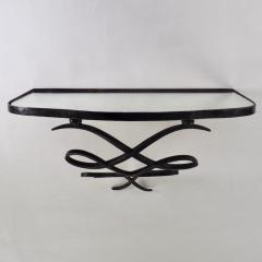 Wrought Iron and Mirrored Glass Console in the Manner of Rene Prou Circa 1940 - 1166566