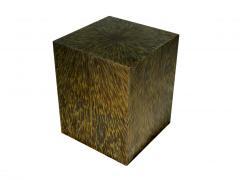 Xavier Mennessier Cube Side Table in Titanium by Xavier Mennessier - 505454