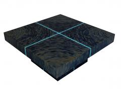 Xavier Mennessier Hypnose Coffee Table in Titanium by Xavier Mennessier - 505168