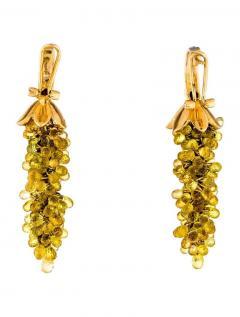 YELLOW SAPPHIRE CHANDELIER EARRINGS WITH DIAMONDS 14 KARAT GOLD - 2021791