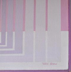 YOKO HARU Yoko Haru American 1968 Stunning Geometric Modern Op Art Acrylic on Canvas - 1903866