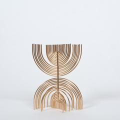 Yaacov Agam Menorah Yaakov Agam Kinetic Gold Plated Sculpture - 948653