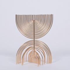 Yaacov Agam Menorah Yaakov Agam Kinetic Gold Plated Sculpture - 948656