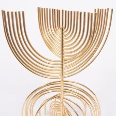 Yaacov Agam Menorah Yaakov Agam Kinetic Gold Plated Sculpture - 948658