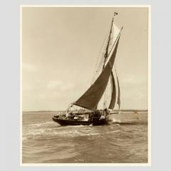 Yacht Alpha early silver photographic print by Beken of Cowes - 812913