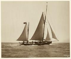 Yacht Palatina early silver photographic print by Beken of Cowes - 897969