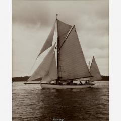 Yacht Winifred Yawl early silver photographic print by Beken of Cowes  - 812897