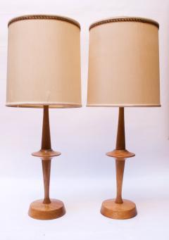 Yasha Heifetz Pair of Modernist Maple Table Lamps by Yasha Heifetz - 1679274