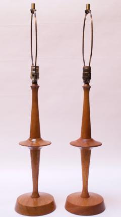 Yasha Heifetz Pair of Modernist Maple Table Lamps by Yasha Heifetz - 1679276