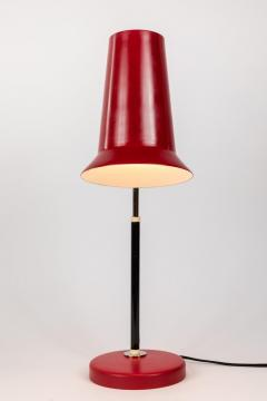 Yki Nummi Pair of 1950s Yki Nummi Red Table Lamps for Orno - 983399