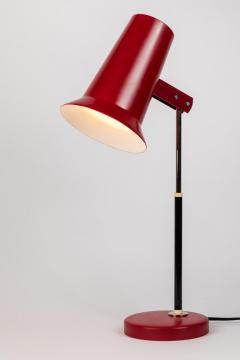 Yki Nummi Pair of 1950s Yki Nummi Red Table Lamps for Orno - 983400