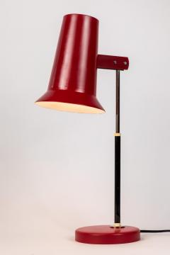 Yki Nummi Pair of 1950s Yki Nummi Red Table Lamps for Orno - 983401