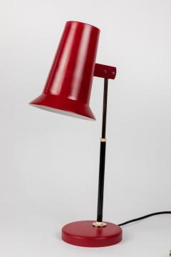Yki Nummi Pair of 1950s Yki Nummi Red Table Lamps for Orno - 983408