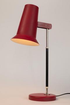 Yki Nummi Pair of 1950s Yki Nummi Red Table Lamps for Orno - 1063406