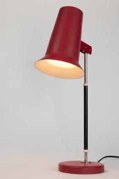 Yki Nummi Pair of 1950s Yki Nummi Red Table Lamps for Orno - 1063407