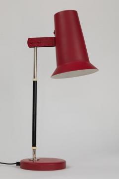 Yki Nummi Pair of 1950s Yki Nummi Red Table Lamps for Orno - 1063415